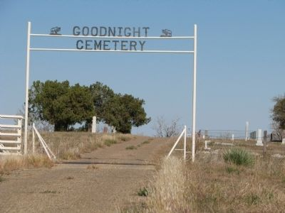 Goodnight Cemetery entrance image. Click for full size.