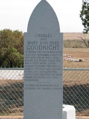 Charles and Mary Ann Dyer Goodnight Memorial image. Click for full size.