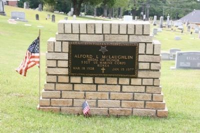 Gravesite of Medal of Honor Recipient S. Sgt. Alford L. McLaughlin image. Click for full size.