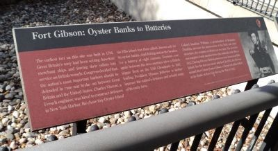 Fort Gibson: Oyster Banks to Batteries Marker image. Click for full size.