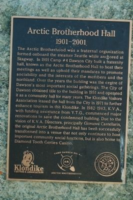 Arctic Brotherhood Hall Marker image. Click for full size.
