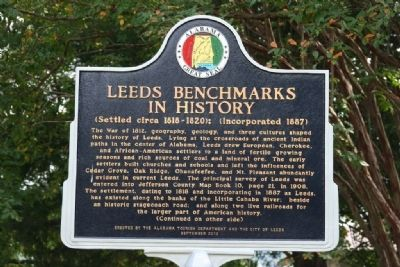 Leeds Benchmarks In History Marker (Front) image. Click for full size.