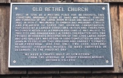 Old Bethel Church Marker image. Click for full size.
