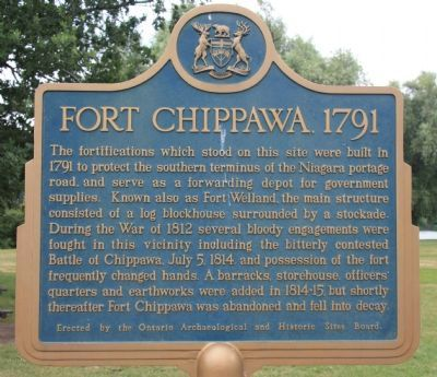 Fort Chippawa 1791 Marker image. Click for full size.