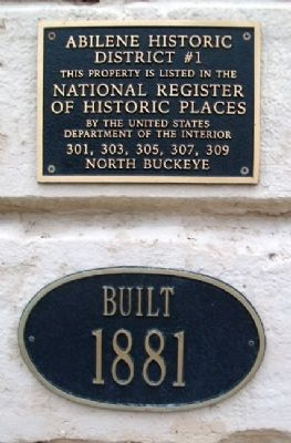 301-309 North Buckeye Ave NRHP Marker image. Click for full size.