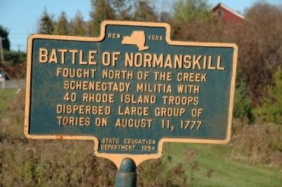 Battle of Normanskill Marker image. Click for full size.
