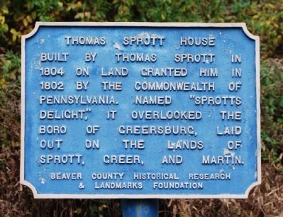 Thomas Sprott House Marker image. Click for full size.