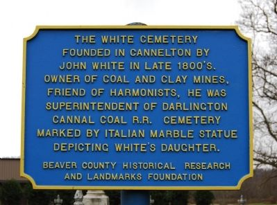 The White Cemetery Marker image. Click for full size.