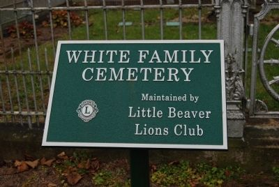 White Family Cemetery Marker image. Click for full size.