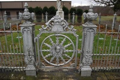White Cemetery Ornamental Gate image. Click for full size.