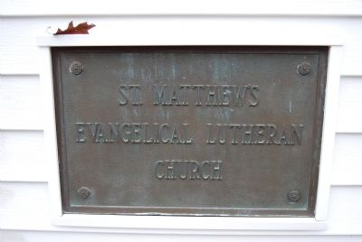 St. Matthew's Church Plaque image. Click for full size.