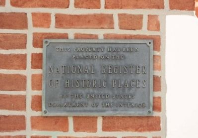St. Paul's Protestant Episcopal Church and National Register Plaque image. Click for full size.