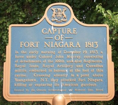 Capture of Fort Niagara Marker image. Click for full size.