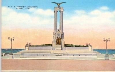 "U. S. S. ""Maine"" Monument, Havana, Cuba Photo, Click for full size"