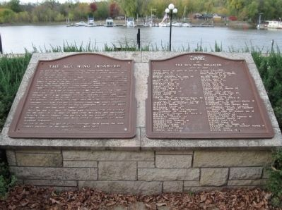 The Sea Wing Disaster / Victims of the Sea Wing Disaster Marker Photo, Click for full size