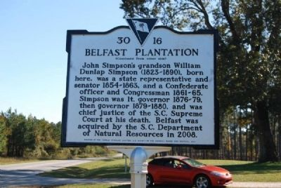 Belfast Plantation Marker<br>Reverse Photo, Click for full size