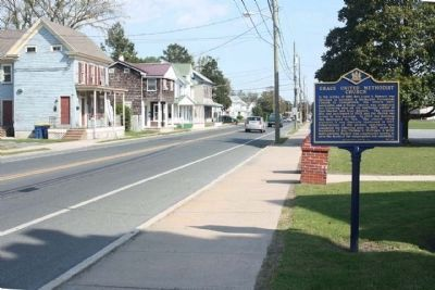 Grace United Methodist Church Marker, looking east along East Market Street image. Click for full size.