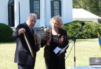 Belfast Plantation Marker Dedication image. Click for full size.