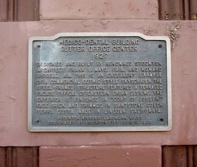 Medico-Dental Building Marker image. Click for full size.