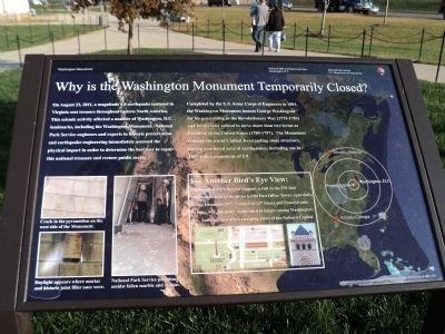 Why is the Washington Monument <br>Temporarily Closed? Marker image. Click for full size.