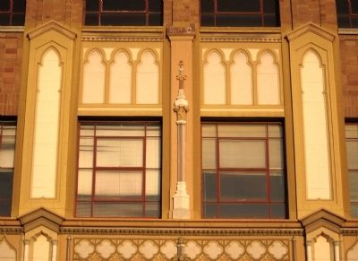 Medico-Dental Building - view of decorative terra cotta detail above the building entrance image. Click for full size.