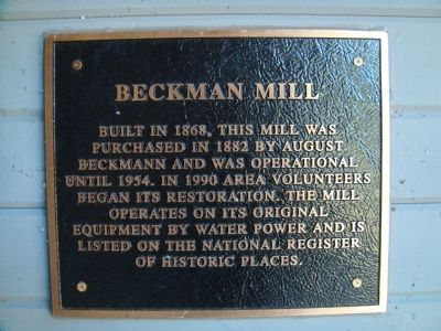 Beckman Mill Marker image. Click for full size.