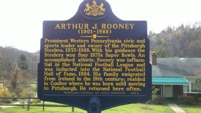 Arthur J. Rooney Marker Photo, Click for full size