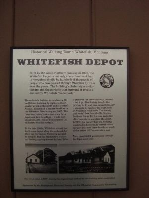 Whitefish Depot Marker image. Click for full size.