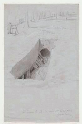 Sketch of Entrance to the Gold Hill Mine image. Click for full size.
