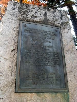 Discovery of Gold at Gold Hill Marker image. Click for full size.