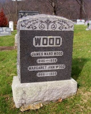 James Ward Wood Grave Stone image. Click for full size.