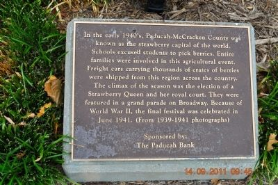 Paducah the Strawberry Capital Marker image. Click for full size.