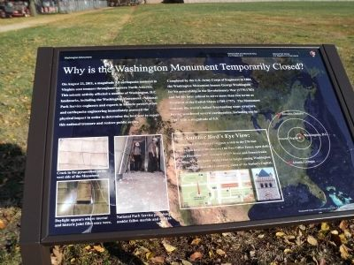 Why is the Washington Monument Temporarily Closed? Marker image. Click for full size.