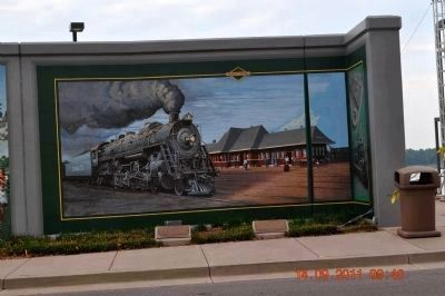 Illinois Central Markers & Union Station Mural image. Click for full size.