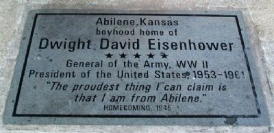 Dwight David Eisenhower Marker image. Click for full size.