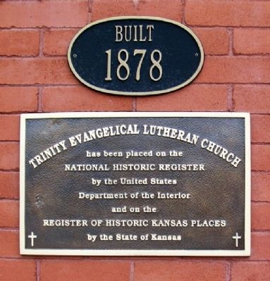 Trinity Evangelical Lutheran Church NRHP Marker image. Click for full size.