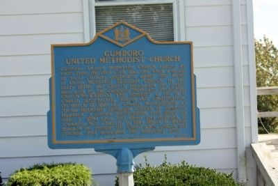 Gumboro United Methodist Church Marker image. Click for full size.