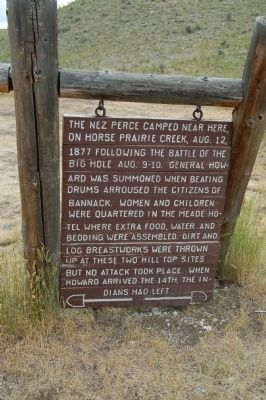 Nez Perce Camp Marker image. Click for full size.