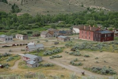 Bannack viewed from the Bannack Cemetery image. Click for full size.