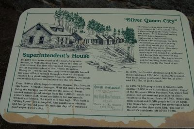 Superintendent�s House Marker image. Click for full size.