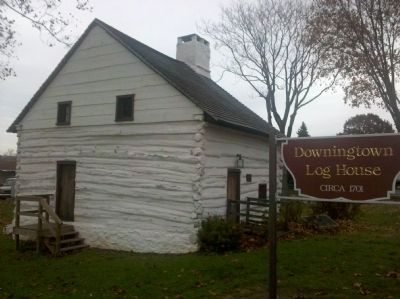 The West Side of the Downingtown Log House image. Click for full size.