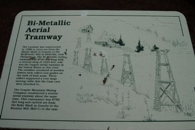 Bi-Metallic Aerial Tramway Marker image. Click for full size.