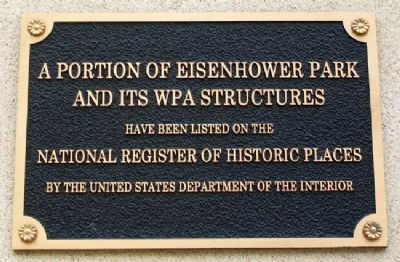 Eisenhower Park NRHP Marker image. Click for full size.
