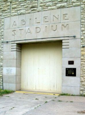 Eisenhower Park Markers at Abilene Stadium image. Click for full size.
