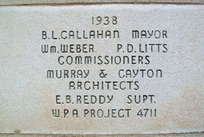 Abilene Stadium Cornerstone image. Click for full size.