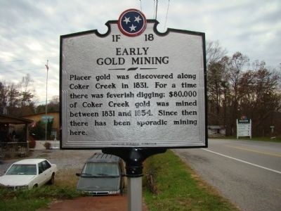 Early Gold Mining Marker Photo, Click for full size