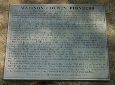 Madison County Pioneers Marker image. Click for full size.