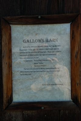 Gallows Barn Marker image. Click for full size.