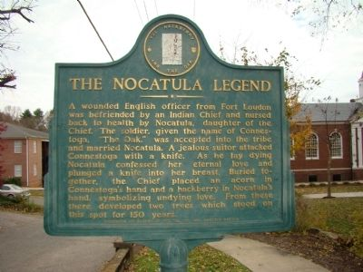 The Nocatula Legend Marker image. Click for full size.