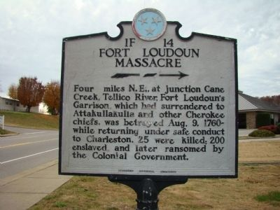 Fort Loudoun Massacre Marker image. Click for full size.